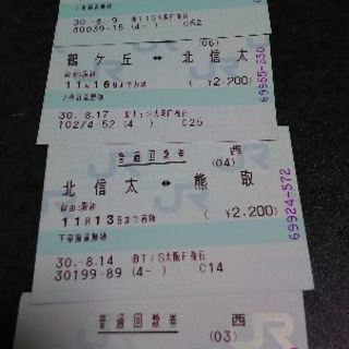 JR切符(大阪~関西空港駅)