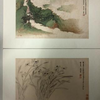 名画 故宮博物院蔵  花卉山水合冊 6枚揃
