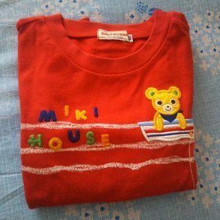 🖤ミキハウス長袖Tシャツ  赤(釣り) 100㎝🖤