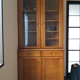 天然木食器棚  ビンテージ家具