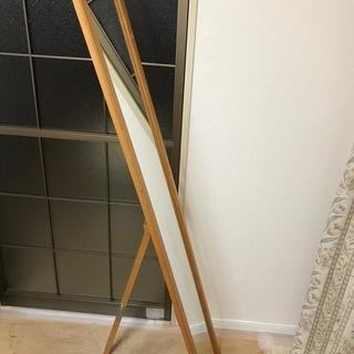 スタンドミラー 姿見  ナチュラル 木製 全身鏡