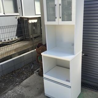 食器棚 スライド式 ホワイト