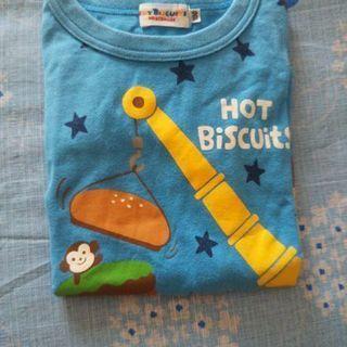 🖤ミキハウス長袖Tシャツ  水色 100㎝🖤