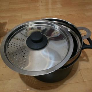 パスタ鍋 アルミ23センチ 寸胴 深鍋
