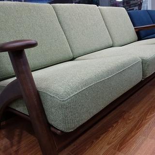 【浜本工芸】3人掛け木枠ソファー売ります!