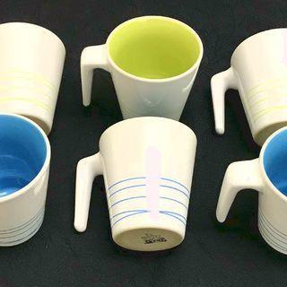 イケア IKEA of Sweden マグカップ ブルー3個 グリ...