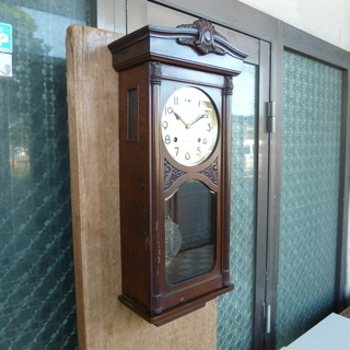 ★☆ 柱時計 掛時計 ゼンマイ式 振り子時計 古時計 ボンボン時計 ☆★