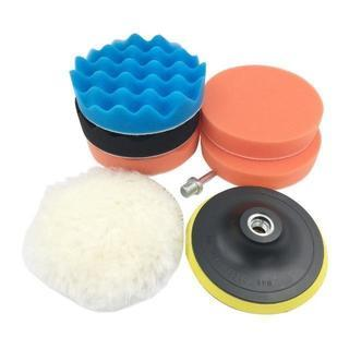 ポリッシャー バフ 洗車用 マジックテープ式 (8点セット 125mm)