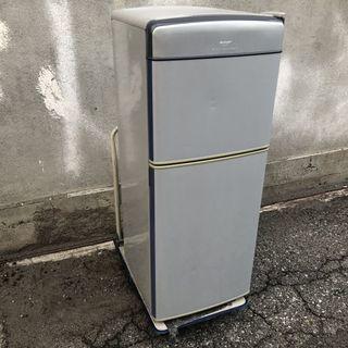 ★ 動作〇 ★ 冷凍冷蔵庫 SHARP SJ-14G -S 140L [H1219 x W475 x D563 mm] ◆ シャープ 2003年製の画像