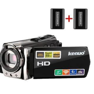HDビデオカメラ 2400万画素 WIFI搭載 バッテリー*2