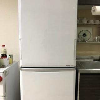 シャープ350ℓ冷蔵庫 自動製氷・プラズマクラスター機能付