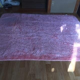 ピンクシャギーラグカーペット