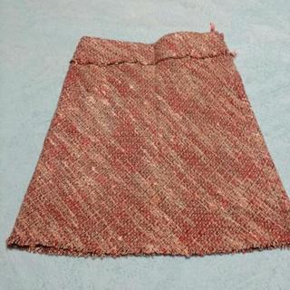 ピンク系のスカート