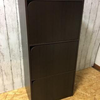 3段カラーボックス  扉付き  LC091991