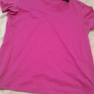 ショッキングピンクのXLのドライTシャツ