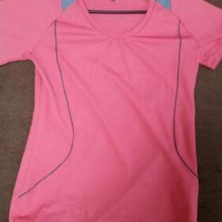 ドライTシャツ ピンク