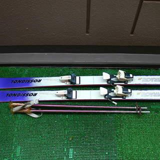子ども用スキー135cm &ストック 中古品