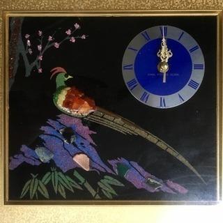 お値下げしました:美術時計(鳥に花)