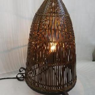 竹細工 アンティーク調 ランプ