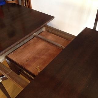 伸縮ダイニングテーブルセット 椅子4脚