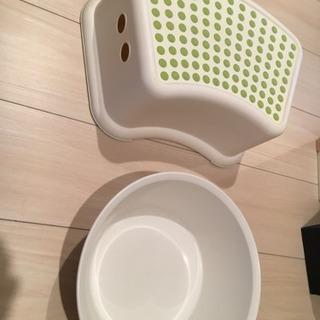 IKEAバスチェア&お風呂桶 バケツセット