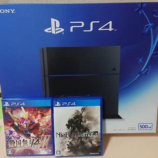 PlayStation4本体+ソフト2点 CUH-1200AB01