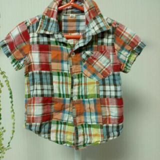 パッチワークシャツ 80センチ
