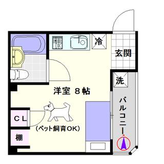 【タカラハイツ敷津】1Rタイプ!家具家電付でセカンドルームにもおすすめ☆