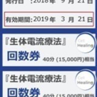【25000円お得!】新宿駅近の整体院の回数券<期限2019年3月...
