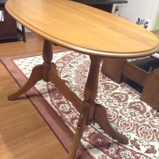 長円形テーブル 猫脚テーブル