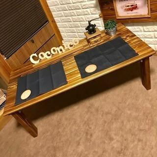 ★木の香り漂う・横幅120cm・木製折りたたみセンターテーブル★