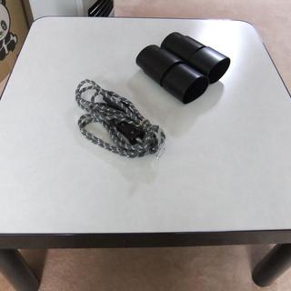 【差し上げます】黒色 電気こたつ、テーブル台つき