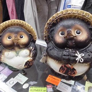 市内格安配送!中古  開運 たぬきの置物 【買取り☆販売】アウト...