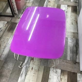 折りたたみ式 テーブル パープルカラー