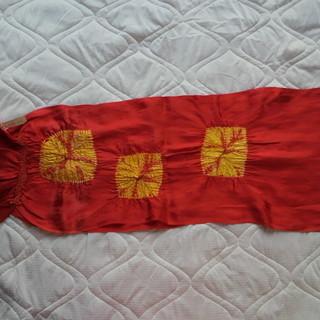 【新品】帯揚げ 赤 成人式 振袖用 卒業式 二尺袖用 フォーマル...