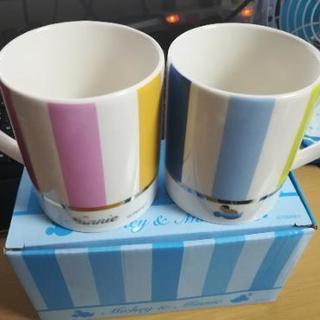 【値下げ】【新品】ディズニーペアマグカップ