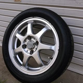 低燃費タイヤ165/55R14バリ溝ホイール付き 軽自動車や軽トラ...