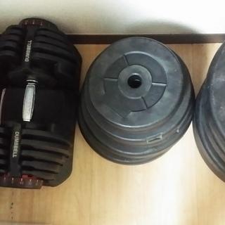 40kg可変式ダンベル2個とプレート100kg以上お譲りします。