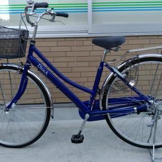 美品27インチ 自転車 シティサイクル(青色 DIOSA)