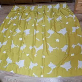 ★黄緑厚手遮光オーダーカーテン★サイズが合えばお得!