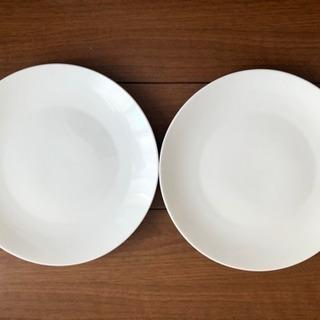 白いパスタ皿 2枚組