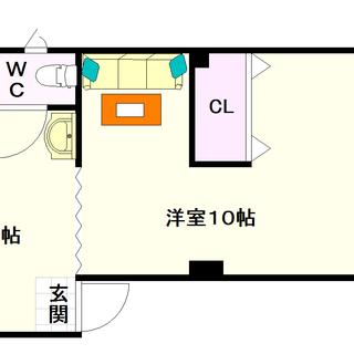 【旭ビル】1Kタイプ!大幅なリフォームを施された室内です☆