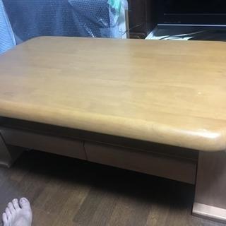 マガジンラック付きテーブル