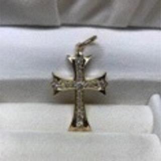 k18 新品  人気のクロスダイヤモンドトップ イエローゴールド色
