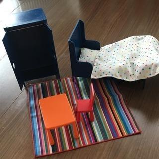 IKEAミニチュア家具 ベッドセット