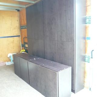 超巨大 クローゼット 2分割 本棚 2つセット 収納 ラック 扉付...