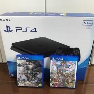 Play station4 500GB+縦置き用スタンド+ドラクエ...