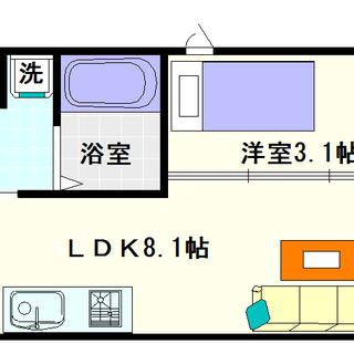 【ラシーヌ日本橋】1LDKタイプ!隣が気になりにくい角部屋です!!