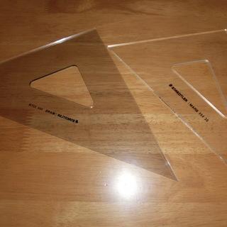 三角定規 製図用 STAEDTLER