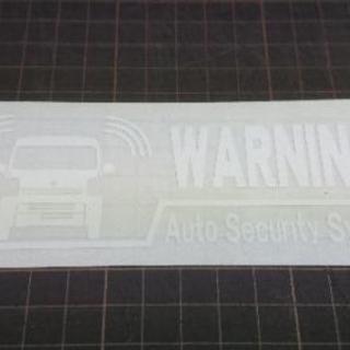 CS-0101-01 車種別警告ステッカー カッティングステッカ...